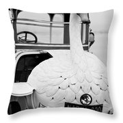 1910 Brooke Swan Car Throw Pillow