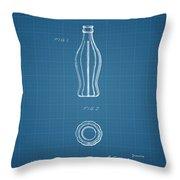 1915 Coca Cola Bottle Design Patent Art 3 Throw Pillow