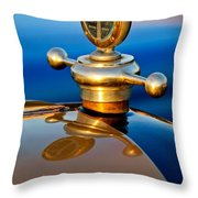 1922 Studebaker Touring Hood Ornament 3 Throw Pillow
