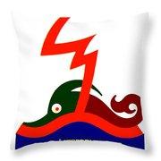 1924 - Austria Electricity Poster Advertisement - Color Throw Pillow