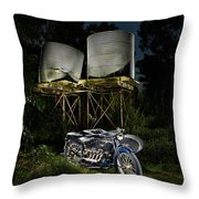 1924 Ace And Corrugated Water Tanks Throw Pillow