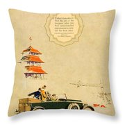 1925 - Lincoln Advertisement - Color Throw Pillow