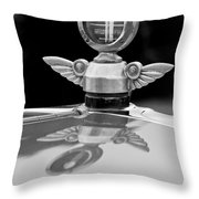 1927 Chandler 4-door Hood Ornament Throw Pillow