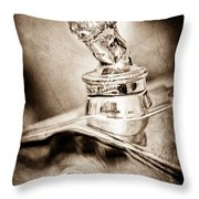 1927 Franklin Sedan Hood Ornament Throw Pillow
