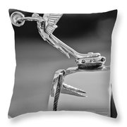 1927 Isotta-fraschini Tipo 8a Boat-tail Tourer Hood Ornament Throw Pillow