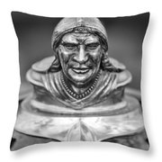 1928 Pontiac Hood Ornament Throw Pillow