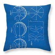 1929 Basketball Patent Artwork - Blueprint Throw Pillow