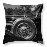1929 Duesenberg Model J Covertible Coupe By Murphy Throw Pillow