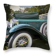 1929 Isotta Fraschini Tipo 8a Convertible Sedan Throw Pillow