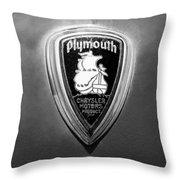 1930 Chrysler Plymouth Emblem Throw Pillow