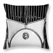 1930 Cord L-29 Speedster Grille Emblem Throw Pillow