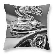 1931 American Austin Roadster Hood Ornament Throw Pillow