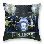 1931 Bentley 4.5 Liter Supercharged Le Mans Grille Throw Pillow