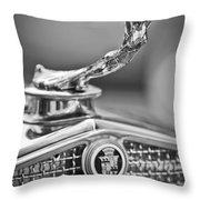 1931 Cadillac 355 Hood Ornament Throw Pillow