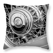 1931 Chrysler Cg Imperial Dual Cowl Phaeton Spare Tire Emblem Throw Pillow