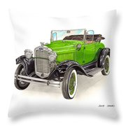 1931 Ford Model A Roadster Throw Pillow