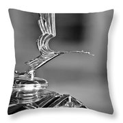 1931 Lasalle Hood Ornament Throw Pillow