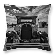 1931 Model T Ford Monochrome Throw Pillow