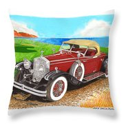 Rolls Royce Henley Roadster Throw Pillow