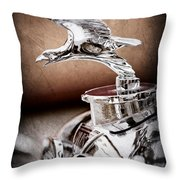 1932 Alvis Hood Ornament - Emblem Throw Pillow