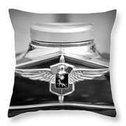 1932 Cadillac Lasalle Grille Emblem Throw Pillow