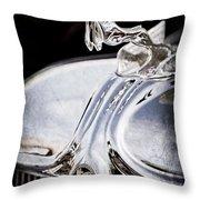 1933 Chrysler Imperial Hood Ornament - Emblem Throw Pillow