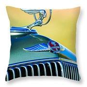 1933 Pontiac Hood Ornament - Emblem Throw Pillow