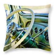 1933 Pontiac Steering Wheel -0463c Throw Pillow