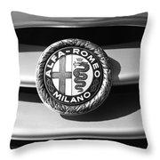 1934 Alfa Romeo 8c Zagato Emblem Throw Pillow