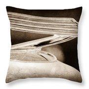 1934 Chevrolet Hood Ornament Throw Pillow