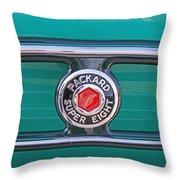 1934 Packard Super 8 Emblem Throw Pillow