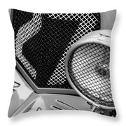1935 Aston Martin Ulster Race Car Grille Throw Pillow