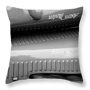 1935 Aston Martin Ulster Race Car Hood Throw Pillow by Jill Reger