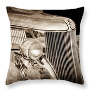 1936 Ford - Stainless Steel Body Throw Pillow