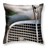 1937 Cadillac Hood Ornament And Grille Emblem Throw Pillow