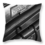 1937 Chevrolet Custom Pickup Emblem Throw Pillow by Jill Reger