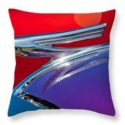 1937 Chevrolet Hood Ornament Throw Pillow