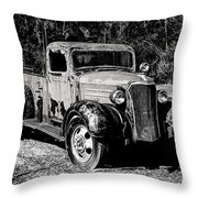 1937 Chevy Wrecker Throw Pillow