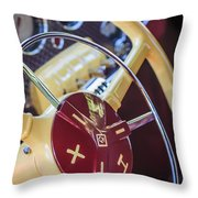 1937 Cord 812 Phaeton Steering Wheel Throw Pillow