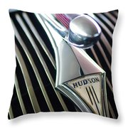 1937 Hudson Terraplane Sedan Hood Ornament Throw Pillow
