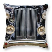 1937 Packard Super 8 Throw Pillow