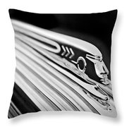 1937 Pontiac Chief Custom Hood Ornament Throw Pillow
