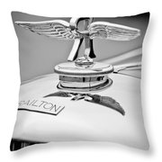 1937 Railton Rippon Brothers Special Limousine Hood Ornament Throw Pillow