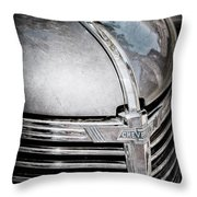 1938 Chevrolet Hood Ornament - Emblem Throw Pillow