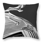 1938 Dodge Hood Ornament Throw Pillow