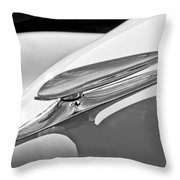 1938 Ford Woody Hood Ornament Throw Pillow