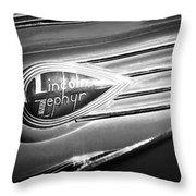1938 Lincoln Zephyr Emblem Throw Pillow