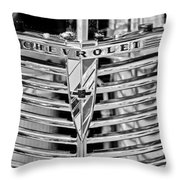 1939 Chevrolet Coupe Grille Emblem  Throw Pillow