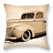 1940 Ford Pickup Throw Pillow
