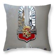 1941 Cadillac Emblem Throw Pillow